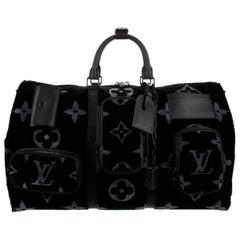 Louis Vuitton NEW Virgil Black SilverTravel Weekender Men's Women's Duffle Bag