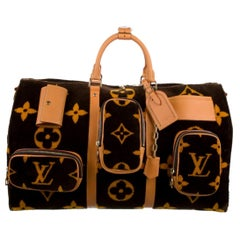 Louis Vuitton NEW Virgil Brown Gold Travel Weekender Men's Women's Duffle Bag