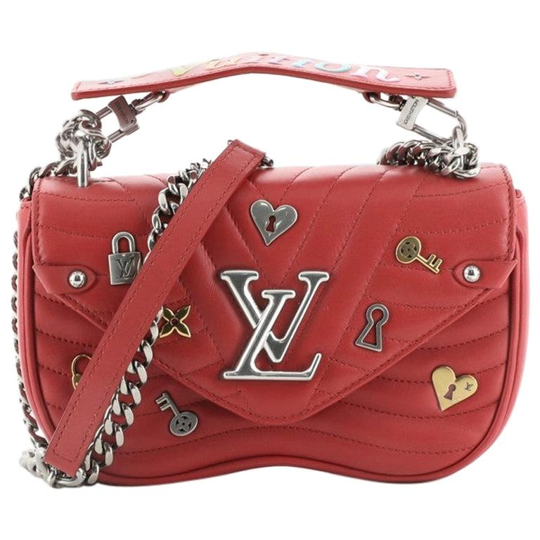 Louis Vuitton New Wave Chain Bag Limited Edition Love Lock Quilted Leathe For Sale