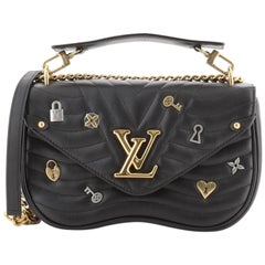 Louis Vuitton New Wave Chain Bag Limited Edition Love Lock Quilted Leathe