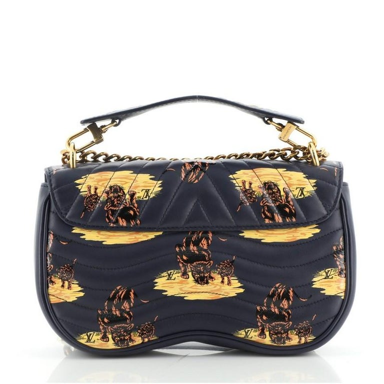 Women's or Men's Louis Vuitton New Wave Chain Bag Limited Edition Printed Quilted Leather  For Sale