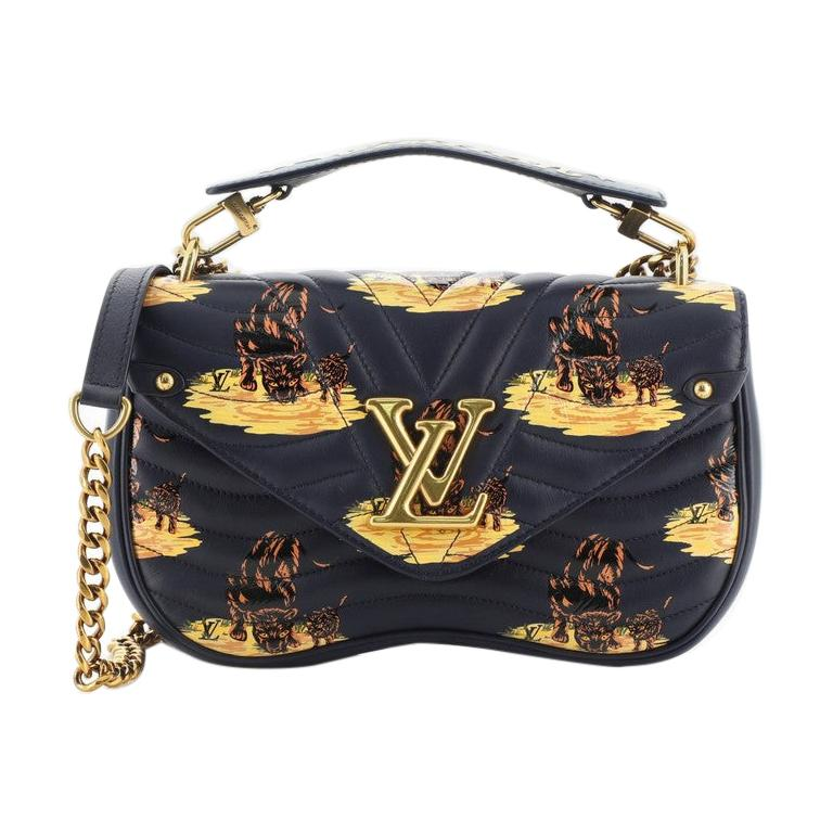Louis Vuitton New Wave Chain Bag Limited Edition Printed Quilted Leather  For Sale