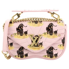 Louis Vuitton New Wave Chain Bag Limited Edition Printed Quilted Leather PM