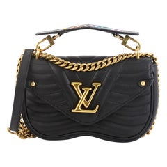 Louis Vuitton New Wave Chain Bag Quilted Leather MM