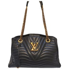 Louis Vuitton New Wave Chain Black Quilted Tote Handbag