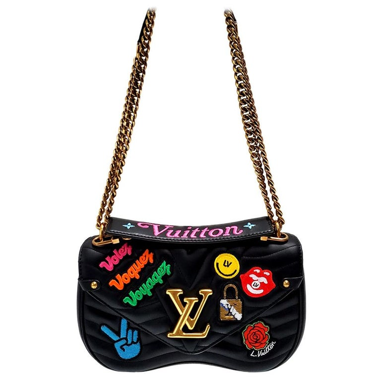 Louis Vuitton New Wave MM Black Hand Bag For Sale