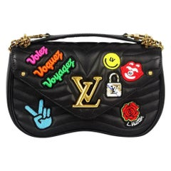 Louis Vuitton New Wave MM Quilted Calfskin Leather Shoulder Bag