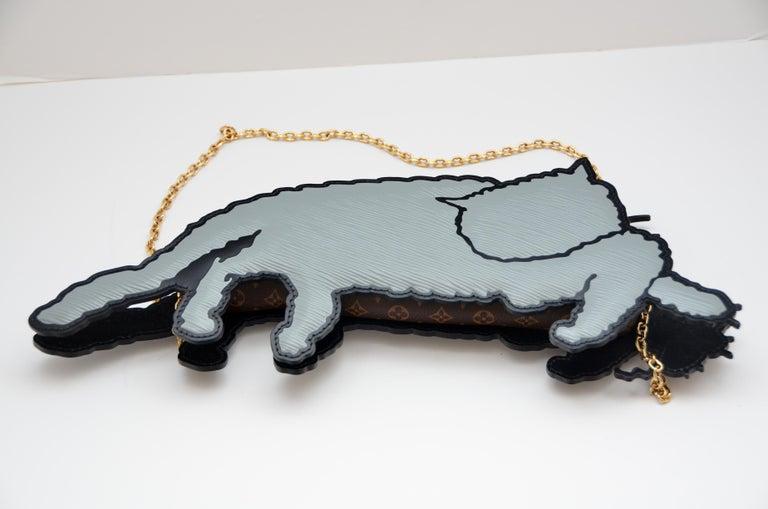 Gray Louis Vuitton Nicolas Ghesquière X Grace Coddington Cat Mouse Handbag '19 NEW For Sale