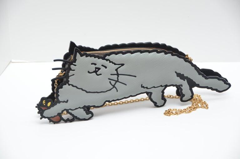 Louis Vuitton Nicolas Ghesquière X Grace Coddington Cat Mouse Handbag '19 NEW For Sale 4