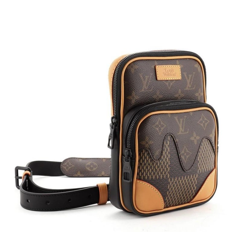Black Louis Vuitton Nigo Amazone Sling Bag Limited Edition Giant Damier and Mon For Sale
