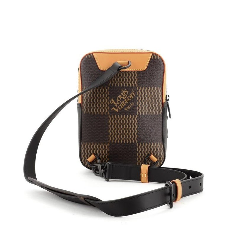 Louis Vuitton Nigo Amazone Sling Bag Limited Edition Giant Damier and Mon In Good Condition For Sale In New York, NY