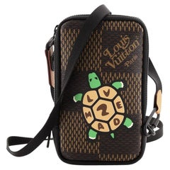 Louis Vuitton Nigo Double Phone Pouch Limited Edition Printed Giant Damie