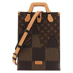 Louis Vuitton Nigo Sac Plat Handbag Limited Edition Giant Damier and Monogram