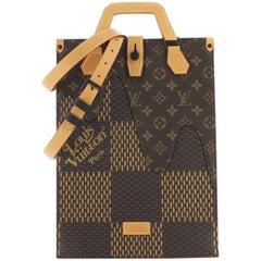 Louis Vuitton Nigo Sac Plat Handbag Limited Edition Giant Damier