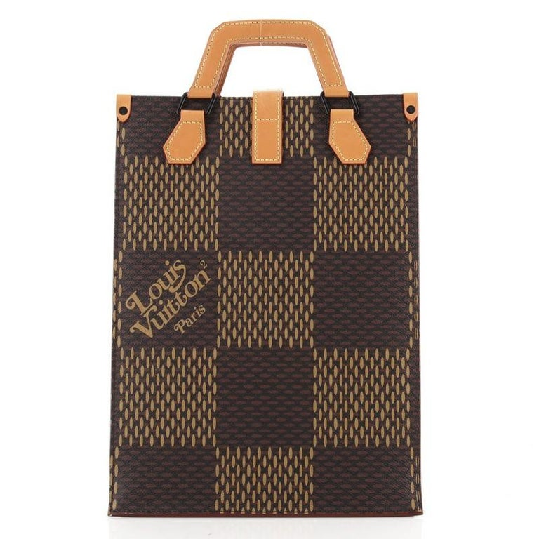 Black Louis Vuitton Nigo Tote Limited Edition Giant Damier and Monogram Canvas Mini For Sale