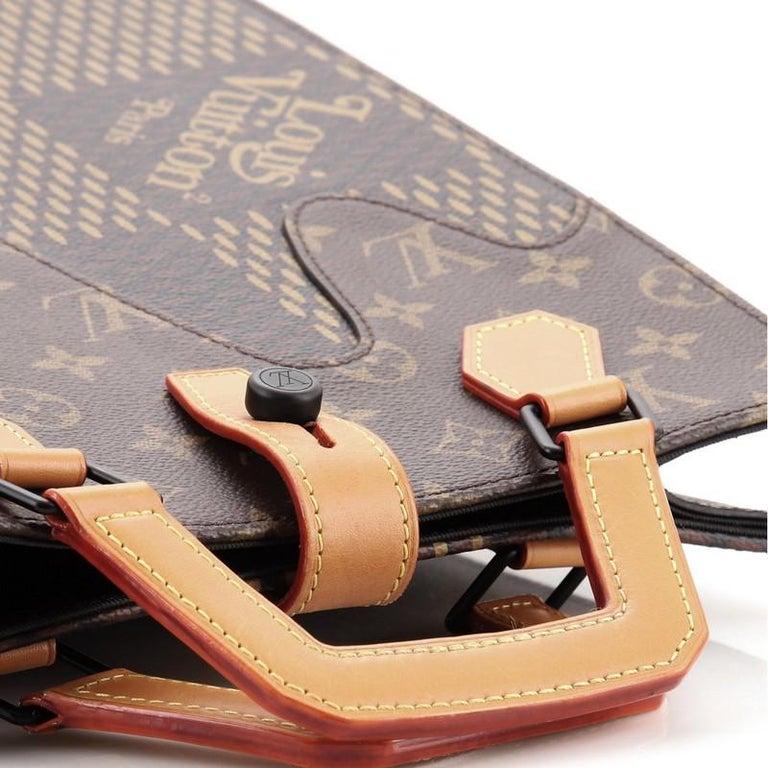 Louis Vuitton Nigo Tote Limited Edition Giant Damier and Monogram Canvas Mini For Sale 1