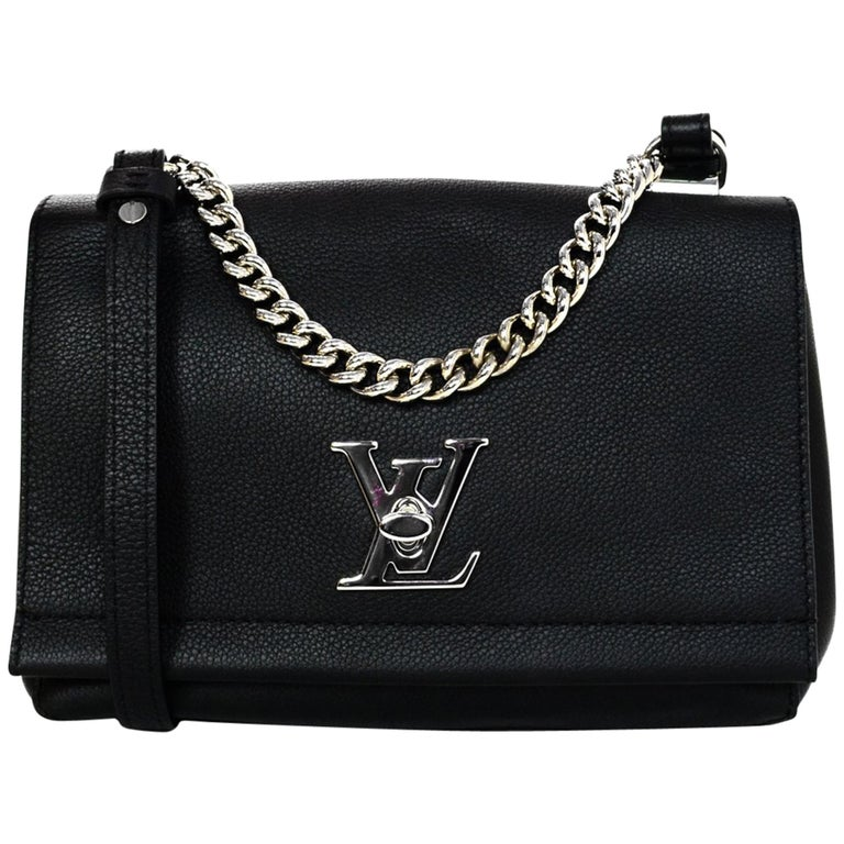 2c023f9f1d02 Louis Vuitton Nior Black Leather Lockme II BB Crossbody Bag For Sale at  1stdibs