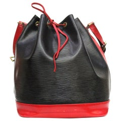 Louis Vuitton Noe Bicolor Drawstring Shoulder Bag