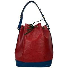 Louis Vuitton Noe GM Tri-Color EPI Leather Bucket Bag, France 1992.