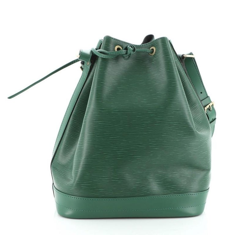 Black Louis Vuitton  Noe Handbag Epi Leather Large