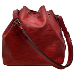 Louis Vuitton Noe PM Bucket Bag in Red EPI Leather, France 1994.