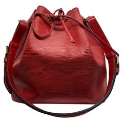 Louis Vuitton Noe PM Bucket Bag in Red EPI Leather, June 1995.