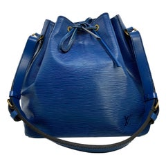 Louis Vuitton Noe PM Bucket Bag in Toledo Blue EPI Leather, France 1995.