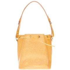 Louis Vuitton Noé PM shoulder bag in yellow epi leather, gold hardware