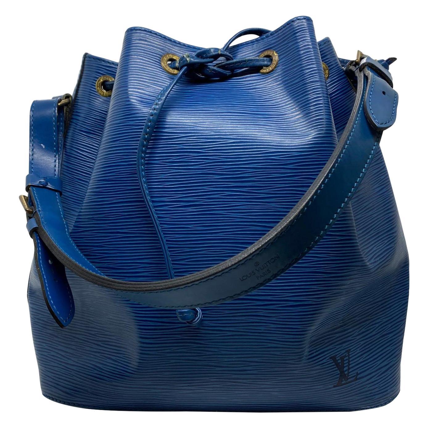 Louis Vuitton Noe PM Toledo Blue EPI Leather Bucket Bag, France 1992.