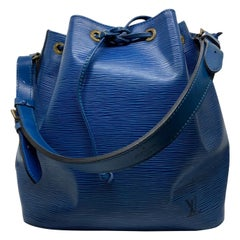 Louis Vuitton Noe PM Toledo Blue EPI Leather Bucket Bag, France 1992.