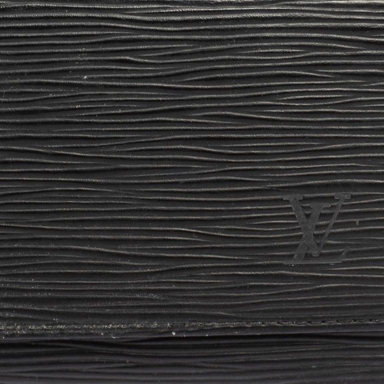 Louis Vuitton Noir Epi Leather Flap Wallet For Sale 3