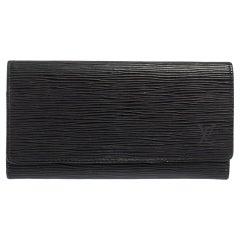 Louis Vuitton Noir Epi Leather Flap Wallet