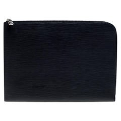 Louis Vuitton Noir Epi Leather Pochette Jour GM Clutch