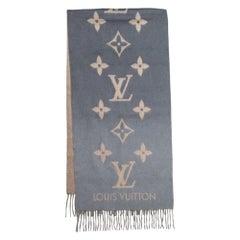 Louis Vuitton Noir Gris Ombre Reykjavik Cashmere Scarf