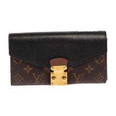 Louis Vuitton Noir Monogram Canvas and Leather Metis Wallet