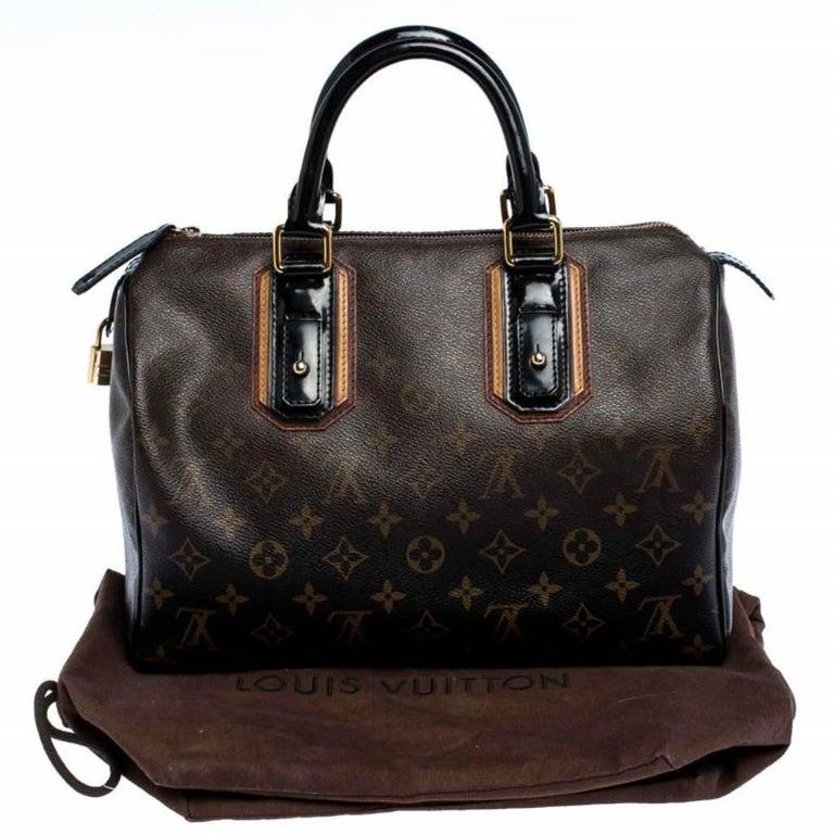 Louis Vuitton Noir Monogram Limited Edition Mirage Speedy 30 Bag For Sale 7