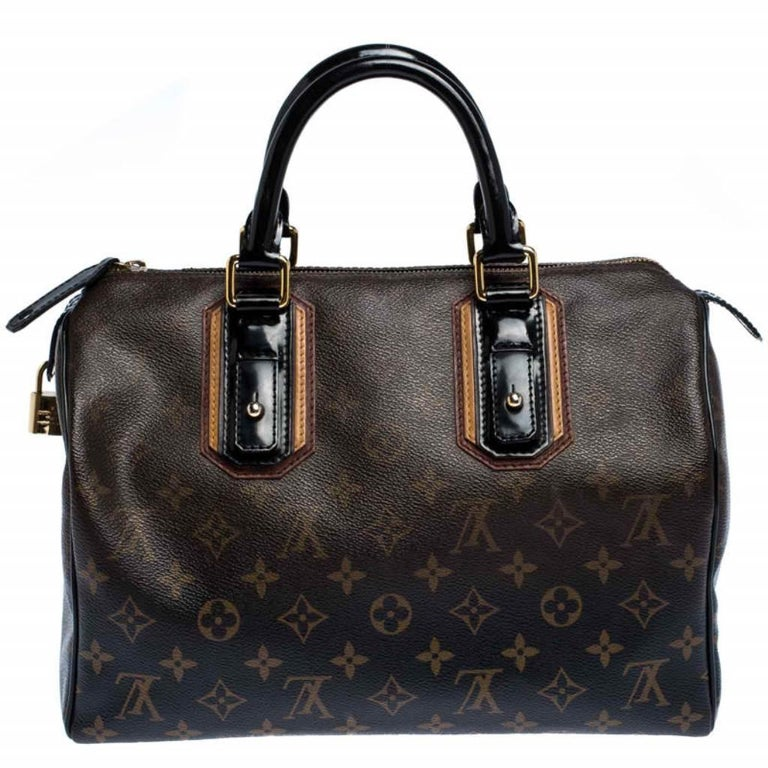 From the Fall 2007 collection comes this Louis Vuitton Mirage Speedy 30. The bag has been accented with details unique to the collection like, monogram print that is gradually fading towards the top and shiny leather handles and trims. A must-have