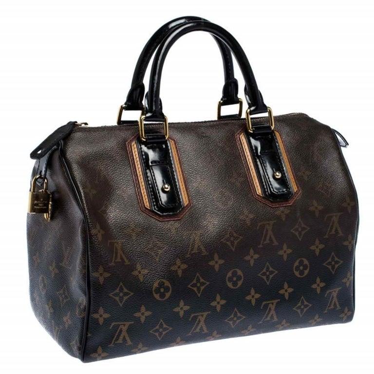 Women's Louis Vuitton Noir Monogram Limited Edition Mirage Speedy 30 Bag For Sale