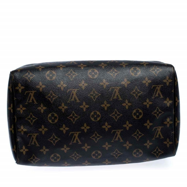 Louis Vuitton Noir Monogram Limited Edition Mirage Speedy 30 Bag For Sale 1