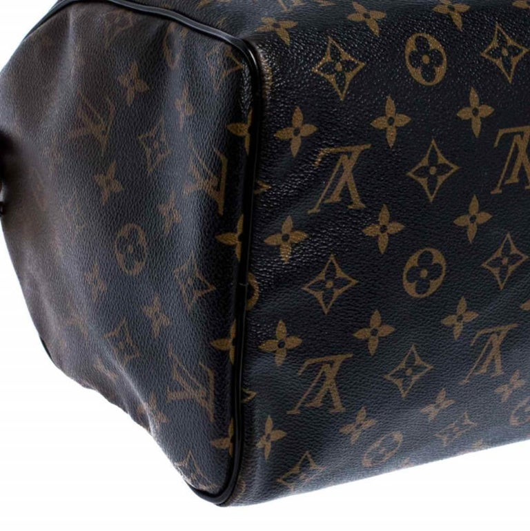 Louis Vuitton Noir Monogram Limited Edition Mirage Speedy 30 Bag For Sale 2