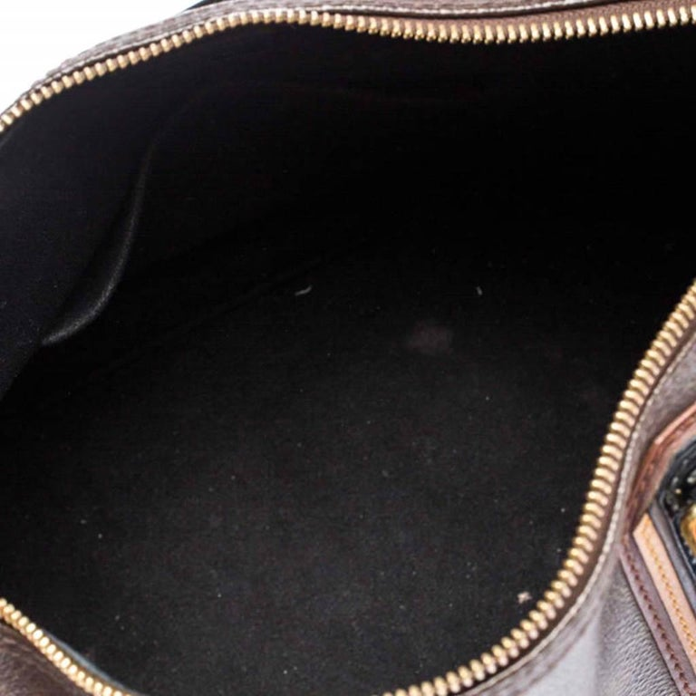 Louis Vuitton Noir Monogram Limited Edition Mirage Speedy 30 Bag For Sale 5