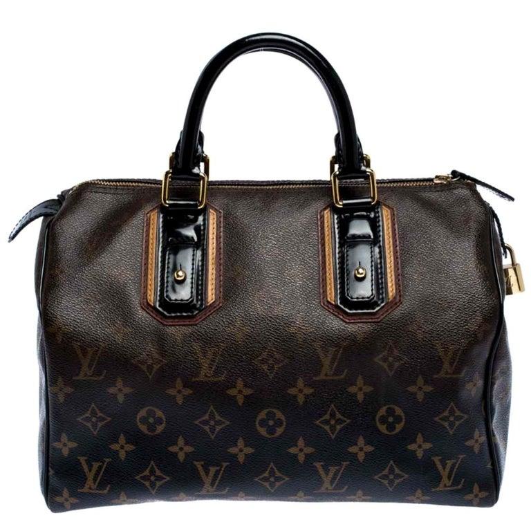 Louis Vuitton Noir Monogram Limited Edition Mirage Speedy 30 Bag For Sale