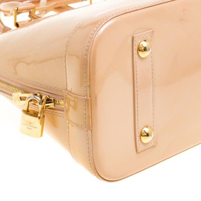 Louis Vuitton Noisette Monogram Vernis Alma PM Bag 5
