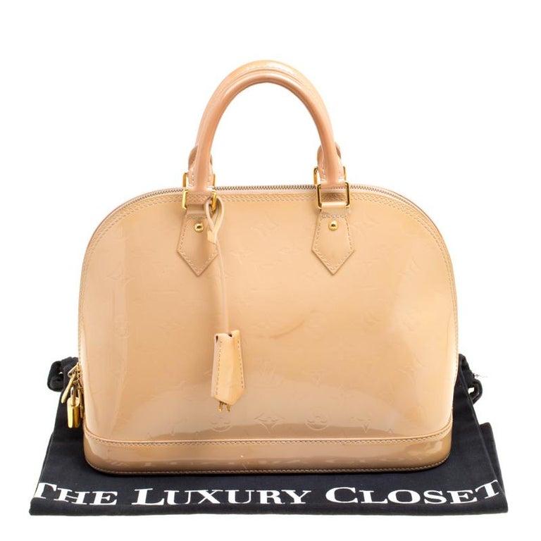 Louis Vuitton Noisette Monogram Vernis Alma PM Bag 7