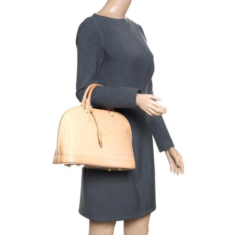 Orange Louis Vuitton Noisette Monogram Vernis Alma PM Bag
