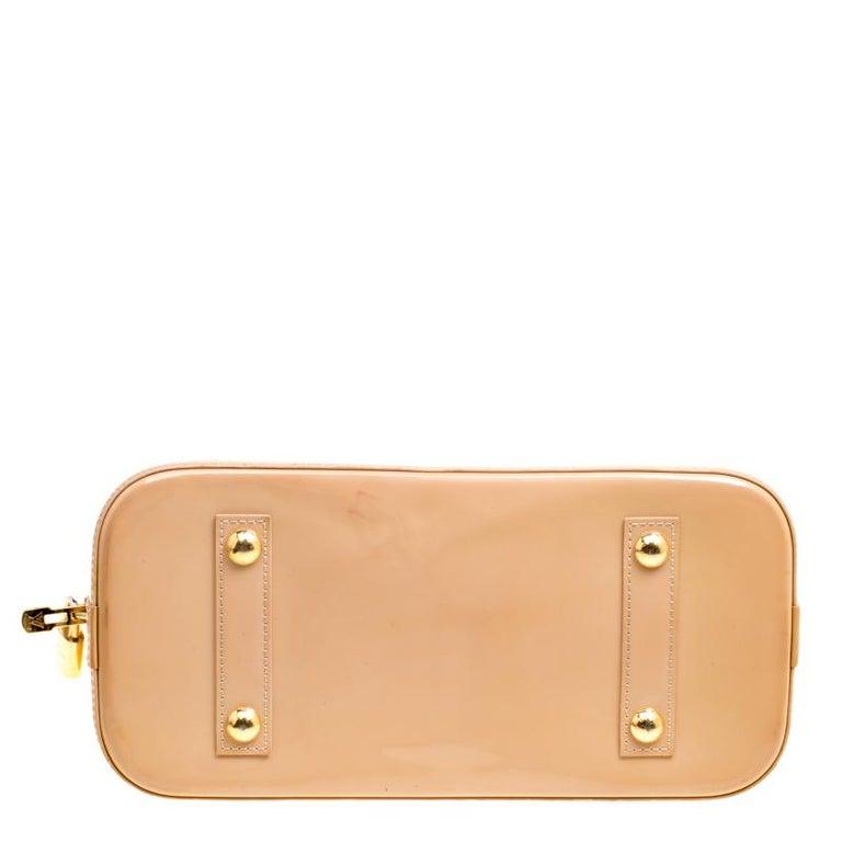 Women's Louis Vuitton Noisette Monogram Vernis Alma PM Bag