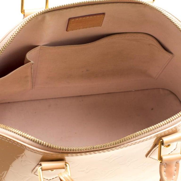 Louis Vuitton Noisette Monogram Vernis Alma PM Bag 3