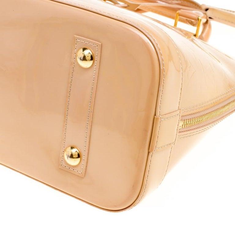 Louis Vuitton Noisette Monogram Vernis Alma PM Bag 4