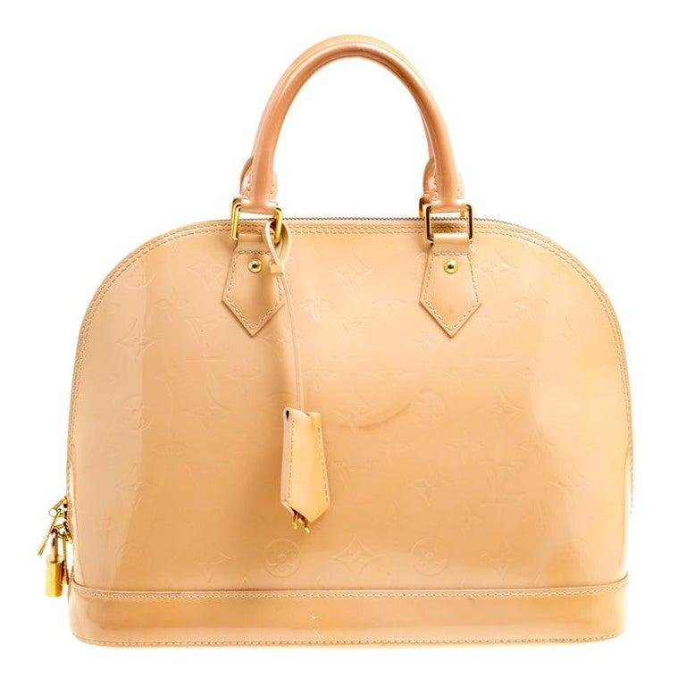 Louis Vuitton Noisette Monogram Vernis Alma PM Bag