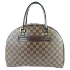 Louis Vuitton Nolita Damier Ebene 4le0103 Brown Coated Canvas Satchel